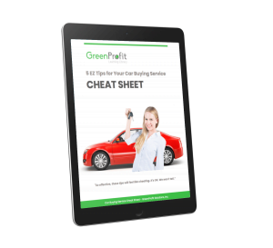 Car Buying Service Cheat Sheet Tablet Cover